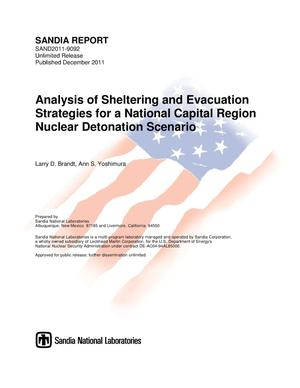 Primary view of object titled 'Analysis of sheltering and evacuation strategies for a national capital region nuclear detonation scenario.'.