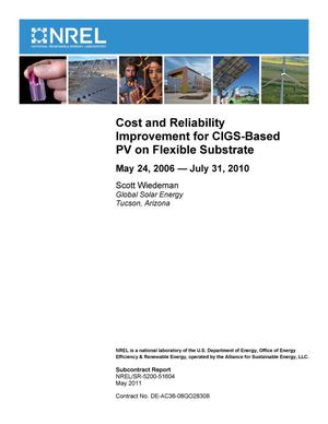 Primary view of object titled 'Cost and Reliability Improvement for CIGS-Based PV on Flexible Substrate: May 24, 2006 -- July 31, 2010'.