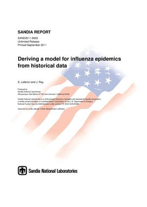 Primary view of object titled 'Deriving a model for influenza epidemics from historical data.'.