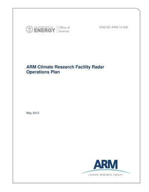 Primary view of object titled 'ARM Climate Research Facility Radar Operations Plan'.