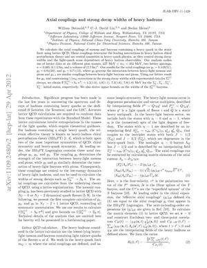 Primary view of object titled 'Axial couplings and strong decay widths of heavy hadrons'.