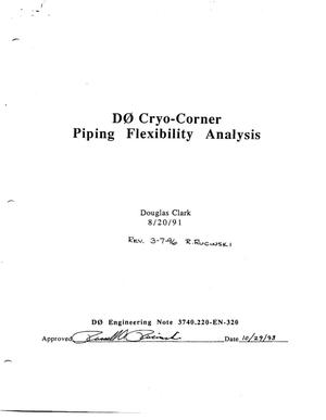 Primary view of object titled 'D0 Cryo-Corner Piping Flexibility Analysis'.