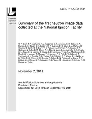 Primary view of object titled 'Summary of the first neutron image data collected at the National Ignition Facility'.