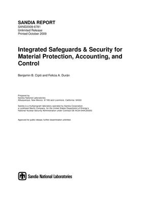Primary view of object titled 'Integrated safeguards & security for material protection, accounting, and control.'.