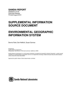 Primary view of object titled 'Environmental geographic information system.'.