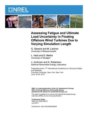 Primary view of object titled 'Assessing Fatigue and Ultimate Load Uncertainty in Floating Offshore Wind Turbines Due to Varying Simulation Length'.