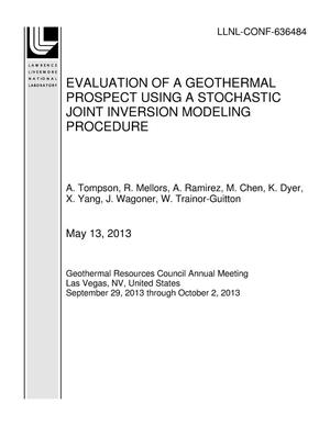Primary view of object titled 'EVALUATION OF A GEOTHERMAL PROSPECT USING A STOCHASTIC JOINT INVERSION MODELING PROCEDURE'.