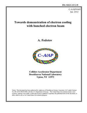 Primary view of object titled 'Towards demonstration of electron cooling with bunched electron beam'.