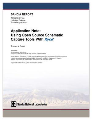 Application note : using open source schematic capture tools with ...
