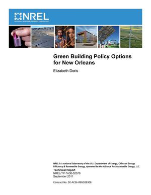 Primary view of object titled 'Green Building Policy Options for New Orleans'.
