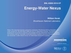 Primary view of object titled 'Energy-Water Nexus'.