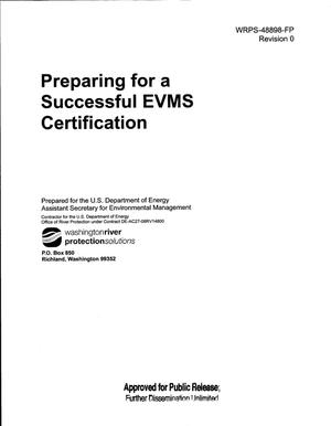 Primary view of object titled 'PREPARING FOR A SUCCESSFUL EVMS CERTIFICATION'.