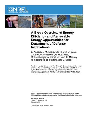 Primary view of object titled 'Broad Overview of Energy Efficiency and Renewable Energy Opportunities for Department of Defense Installations'.