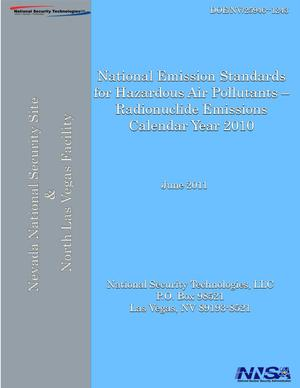 Primary view of object titled 'National Emission Standards for Hazardous Air Pollutants - Radionuclide Emissions, Calendar Year 2010'.
