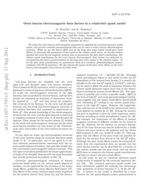 Primary view of object titled 'Octet Baryon Electromagnetic Form Factors in a Relativistic Quark Model'.