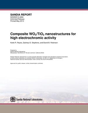 Primary view of object titled 'Composite WO3/TiO2 nanostructures for high electrochromic activity.'.