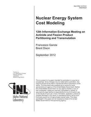 Primary view of object titled 'NUCLEAR ENERGY SYSTEM COST MODELING'.