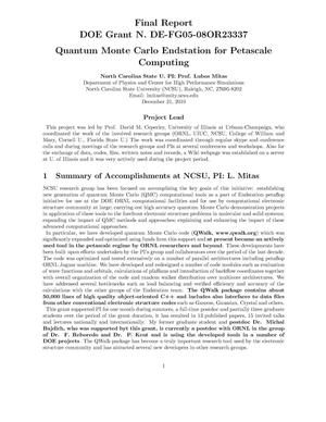 Primary view of object titled 'Quantum Monte Carlo Endstation for Petascale Computing'.