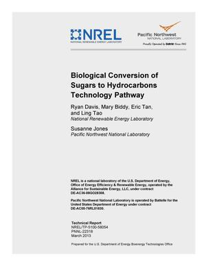 Primary view of object titled 'Biological Conversion of Sugars to Hydrocarbons Technology Pathway'.