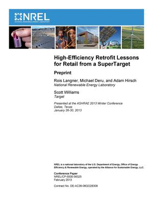 Primary view of object titled 'High-Efficiency Retrofit Lessons for Retail from a SuperTarget: Preprint'.