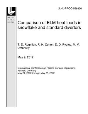 Primary view of object titled 'Comparison of ELM heat loads in snowflake and standard divertors'.