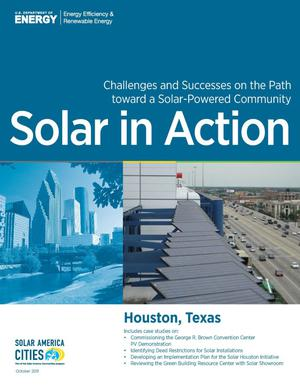 Primary view of object titled 'Houston, Texas: Solar in Action (Brochure)'.