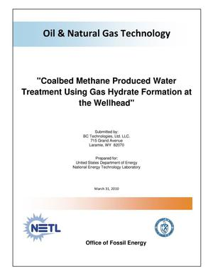 Primary view of object titled 'Coalbed Methane Procduced Water Treatment Using Gas Hydrate Formation at the Wellhead'.