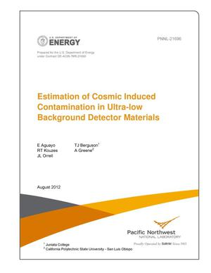 Primary view of object titled 'Estimation of Cosmic Induced Contamination in Ultra-low Background Detector Materials'.