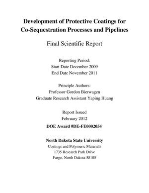 Primary view of object titled 'Development of Protective Coatings for Co-Sequestration Processes and Pipelines'.