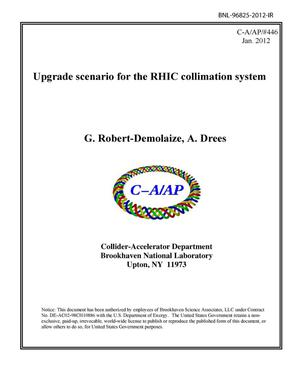 Primary view of object titled 'Upgrade scenario for the RHIC collimation system'.