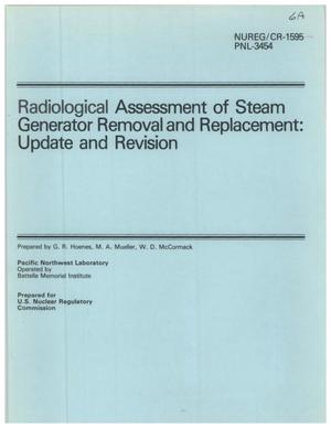Primary view of object titled 'Radiological Assessment of Steam Generator Removal and Replacement: Update and Revision'.