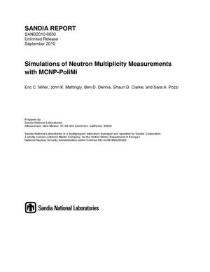 Primary view of object titled 'Simulations of neutron multiplicity measurements with MCNP-PoliMi.'.