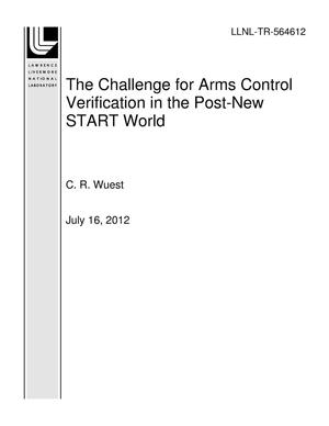 Primary view of object titled 'The Challenge for Arms Control Verification in the Post-New START World'.