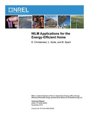 Primary view of object titled 'NILM Applications for the Energy-Efficient Home'.