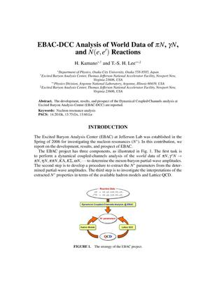 Primary view of object titled 'EBAC-DCC Analysis of World Data of pi N, gamma N, and N(e,e') Reactions'.