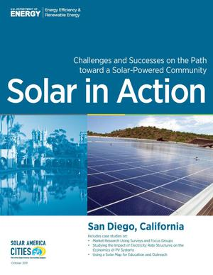 Primary view of object titled 'San Diego, California: Solar in Action (Brochure)'.