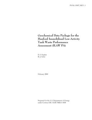 Primary view of object titled 'Geochemical Data Package for the Hanford Immobilized Low-Activity Tank Waste Performance Assessment (ILAWPA)'.