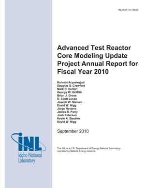 Primary view of object titled 'Advanced Test Reactor Core Modeling Update Project Annual Report for Fiscal Year 2010'.