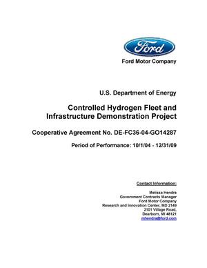 Primary view of object titled 'Controlled Hydrogen Fleet and Infrastructure Demonstration Project'.