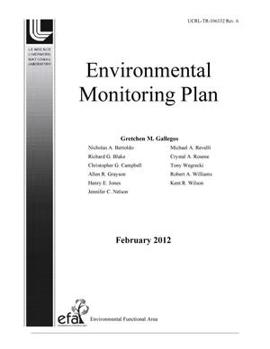 Primary view of object titled 'Environmental Monitoring Plan, Revision 6'.