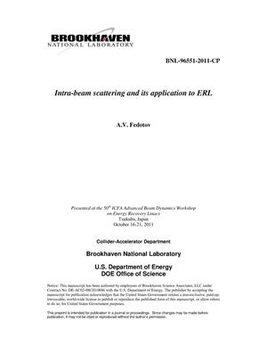 Primary view of object titled 'Intra-beam scattering and its application to ERL'.