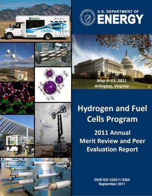 Primary view of object titled 'U.S. Department of Energy Hydogen and Fuel Cells Program Annual Review/Report: 2011'.