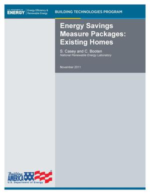 Primary view of object titled 'Energy Savings Measure Packages: Existing Homes'.