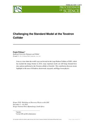 Primary view of object titled 'Challenging the standard model at the Tevatron collider'.