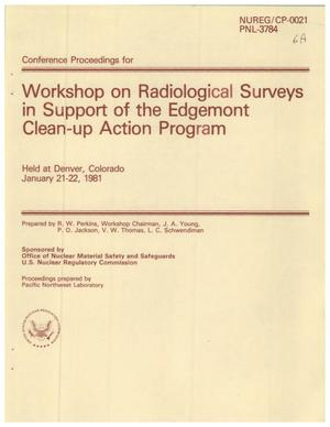 Primary view of object titled 'Workshop on Radiological Surveys in Support of the Edgemont Clean-up Action Program'.