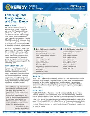 Primary view of object titled 'Enhancing Tribal Energy Security and Clean Energy (Fact Sheet)'.