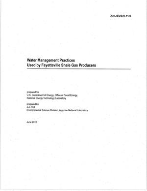 Primary view of object titled 'Water management practices used by Fayetteville shale gas producers.'.