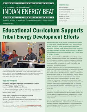 Primary view of object titled 'Educational Curriculum Supports Tribal Energy Development Efforts (Newsletter)'.