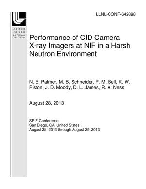 Primary view of object titled 'Performance of CID Camera X-ray Imagers at NIF in a Harsh Neutron Environment'.
