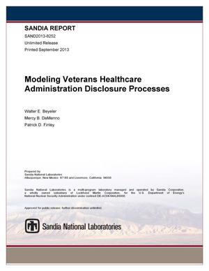 Primary view of object titled 'Modeling veterans healthcare administration disclosure processes : CY 2012 summary.'.